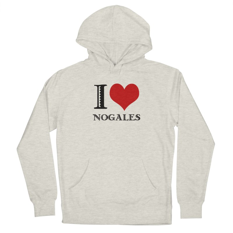I Love Nogales (heart) Men's French Terry Pullover Hoody by Nuttshaw Studios