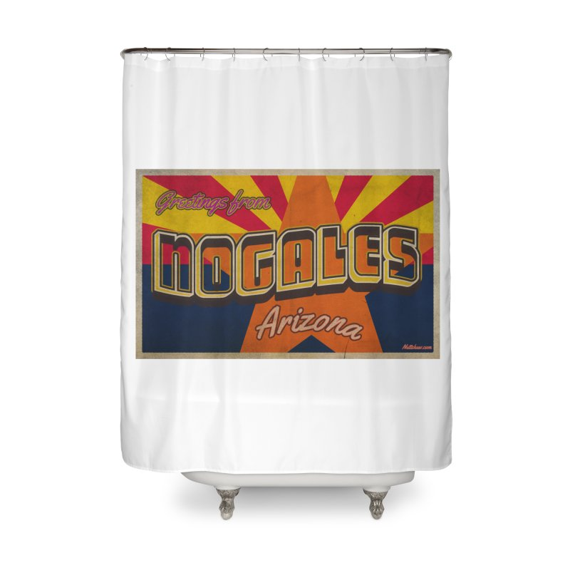 Nogales AZ Flag Home Shower Curtain by Nuttshaw Studios