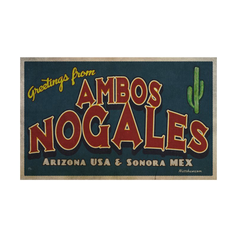 Ambos Nogales Blue Men's T-Shirt by Nuttshaw Studios