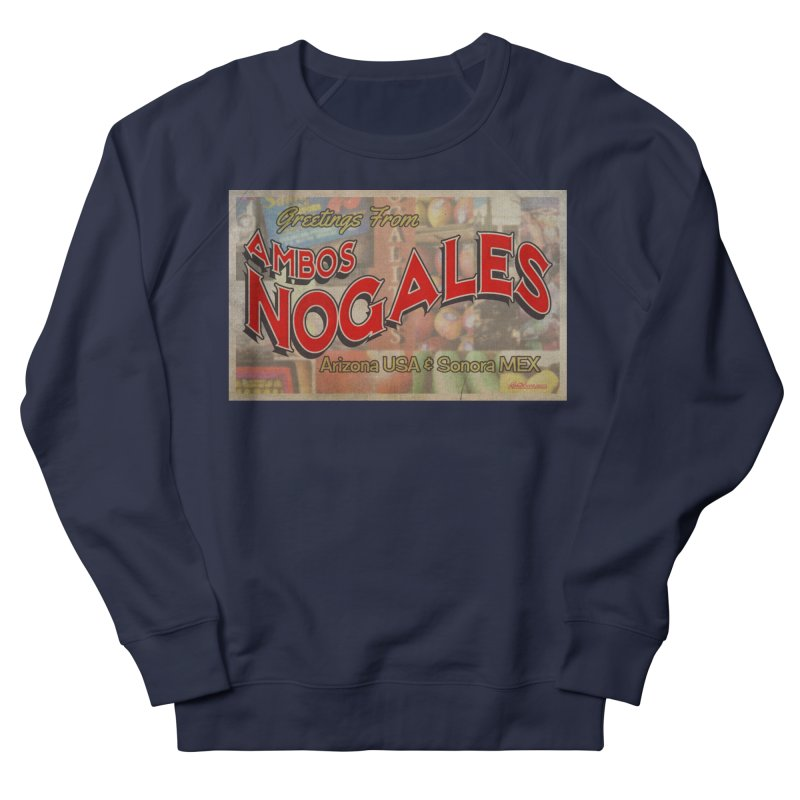 Ambos Nogales Produce Women's French Terry Sweatshirt by Nuttshaw Studios