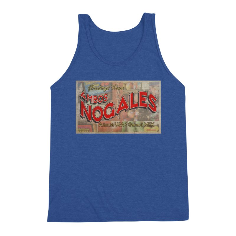 Ambos Nogales Produce Men's Triblend Tank by Nuttshaw Studios