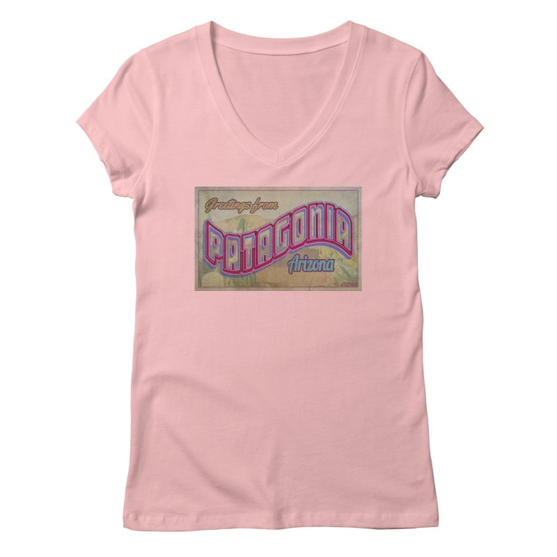 Patagonia, AZ Women's Regular V-Neck by Nuttshaw Studios
