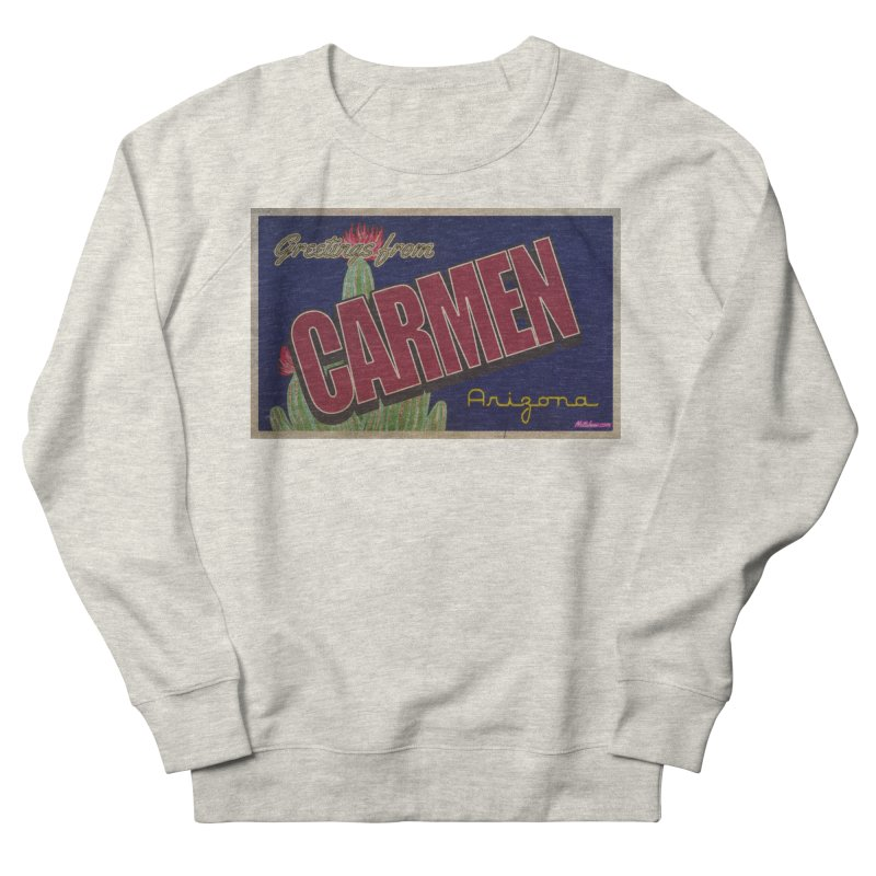 Carmen, AZ Women's French Terry Sweatshirt by Nuttshaw Studios