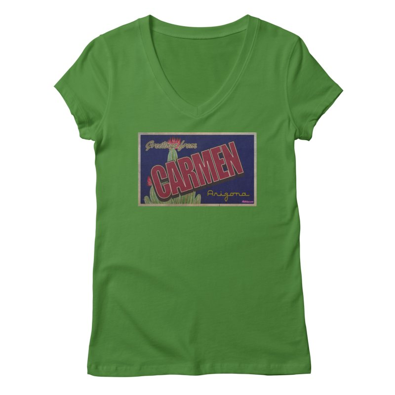 Carmen, AZ Women's Regular V-Neck by Nuttshaw Studios