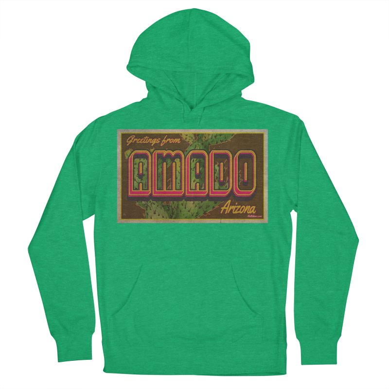 Amado, AZ Men's French Terry Pullover Hoody by Nuttshaw Studios