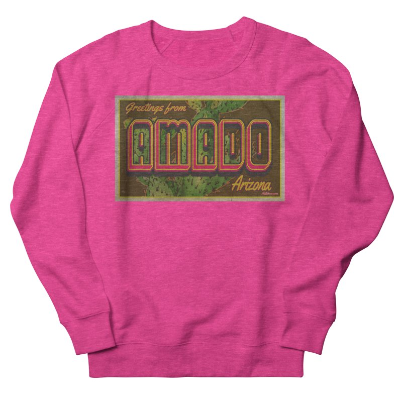 Amado, AZ Women's French Terry Sweatshirt by Nuttshaw Studios