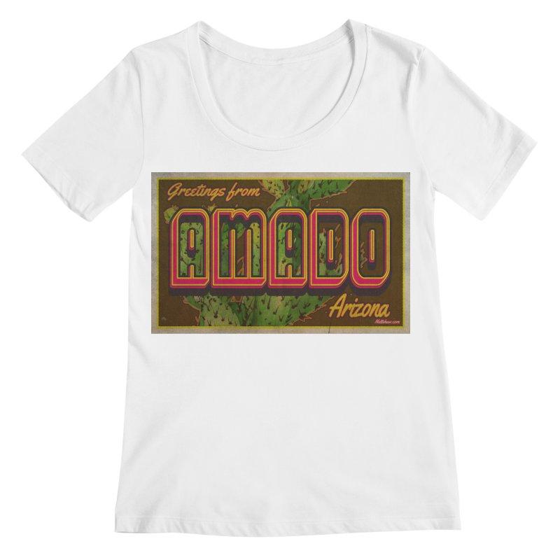 Amado, AZ Women's Regular Scoop Neck by Nuttshaw Studios