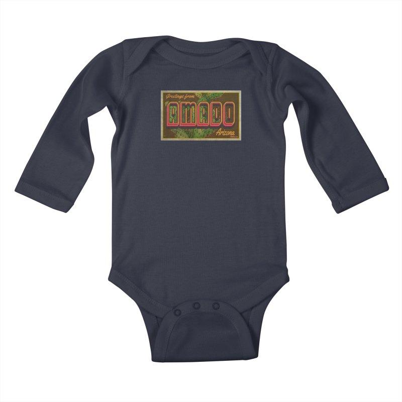 Amado, AZ Kids Baby Longsleeve Bodysuit by Nuttshaw Studios