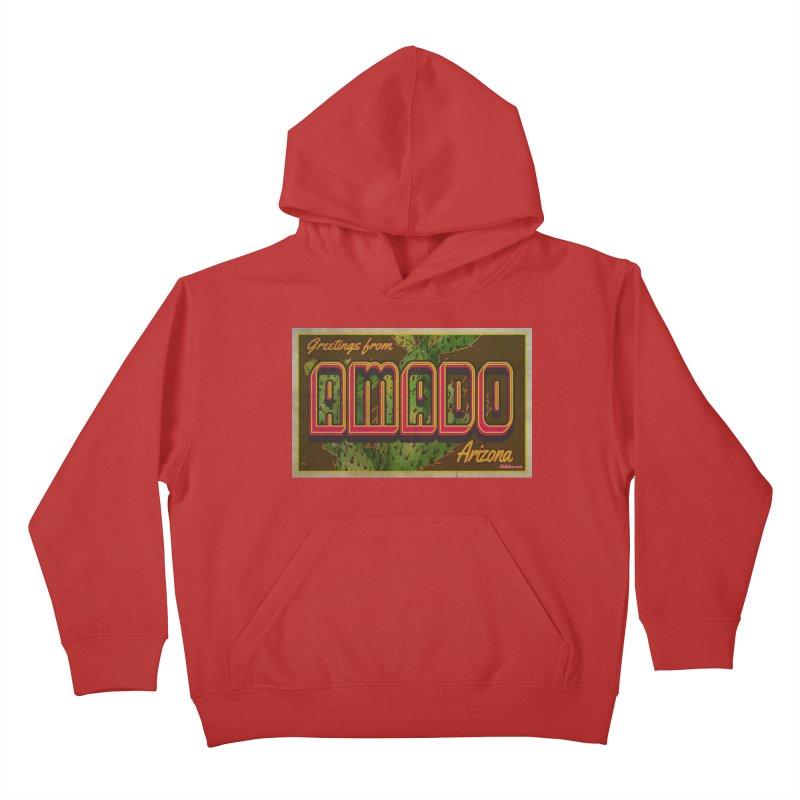 Amado, AZ Kids Pullover Hoody by Nuttshaw Studios