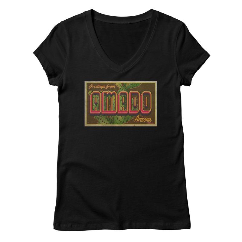 Amado, AZ Women's Regular V-Neck by Nuttshaw Studios