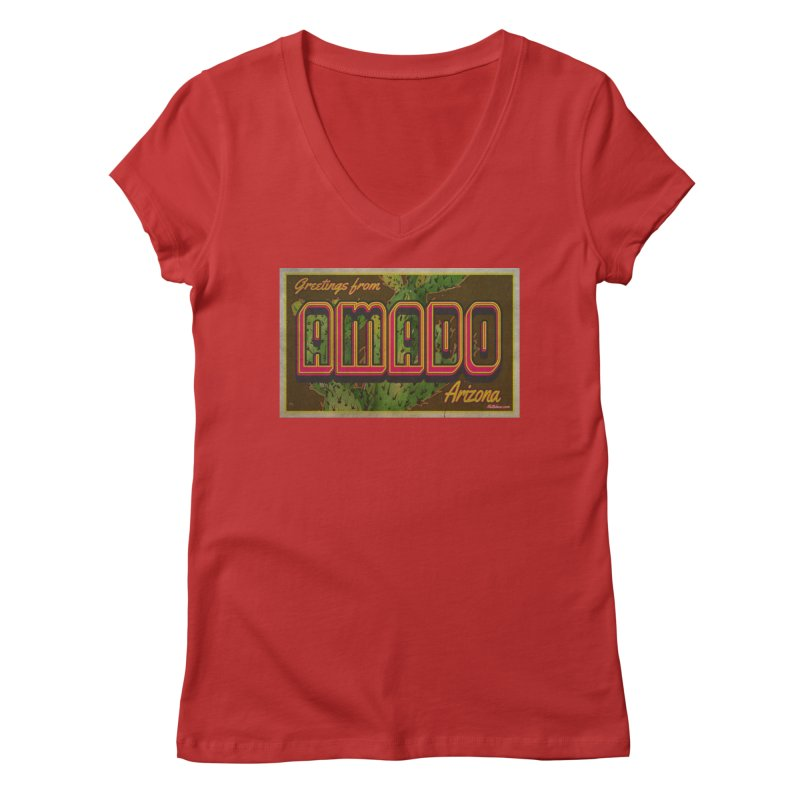 Amado, AZ Women's Regular V-Neck by Nuttshaw Studios
