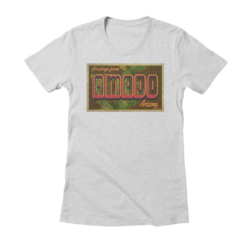 Amado, AZ Women's Fitted T-Shirt by Nuttshaw Studios