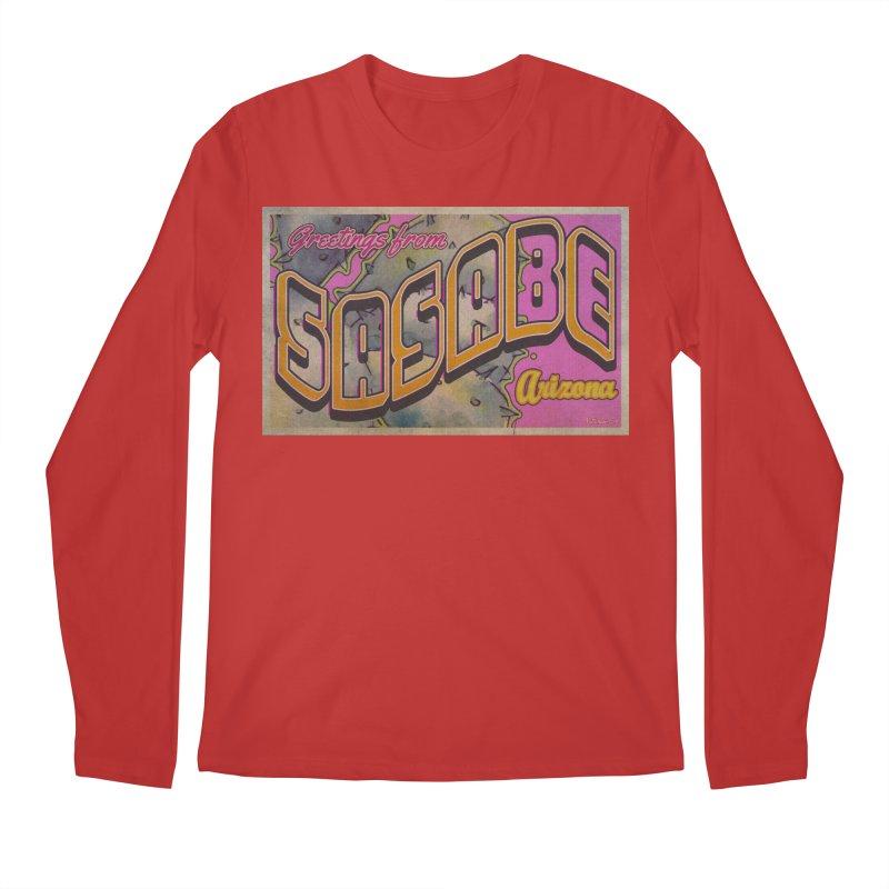 Sasabe, AZ. Men's Regular Longsleeve T-Shirt by Nuttshaw Studios