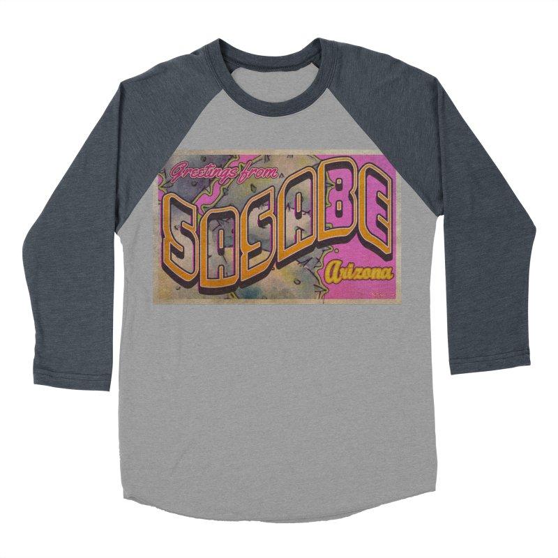 Sasabe, AZ. Men's Baseball Triblend Longsleeve T-Shirt by Nuttshaw Studios