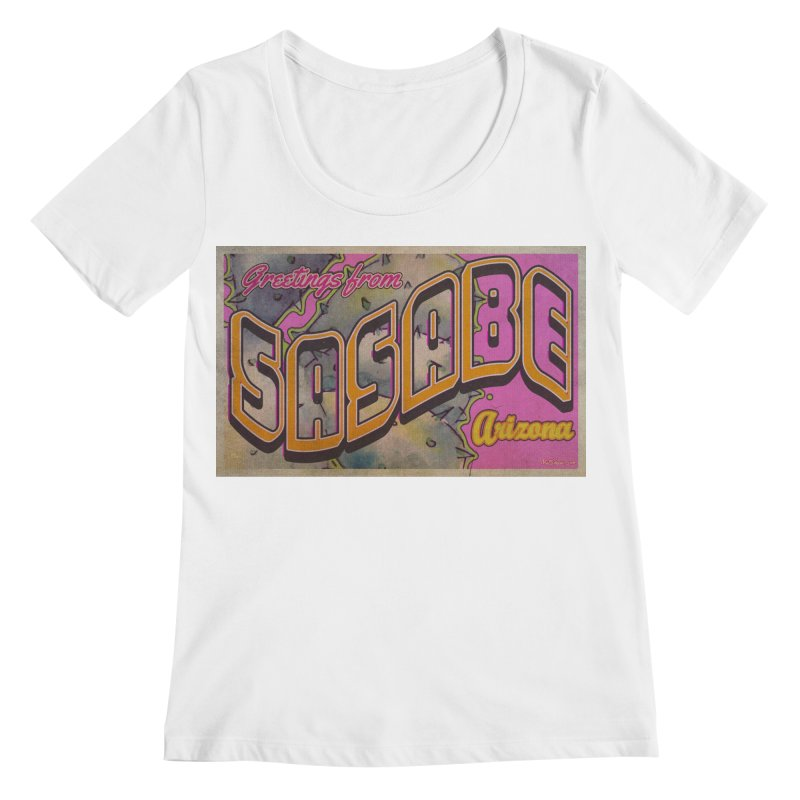 Sasabe, AZ. Women's Regular Scoop Neck by Nuttshaw Studios