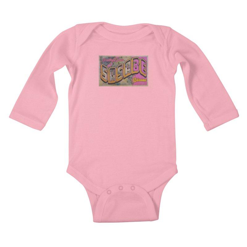 Sasabe, AZ. Kids Baby Longsleeve Bodysuit by Nuttshaw Studios