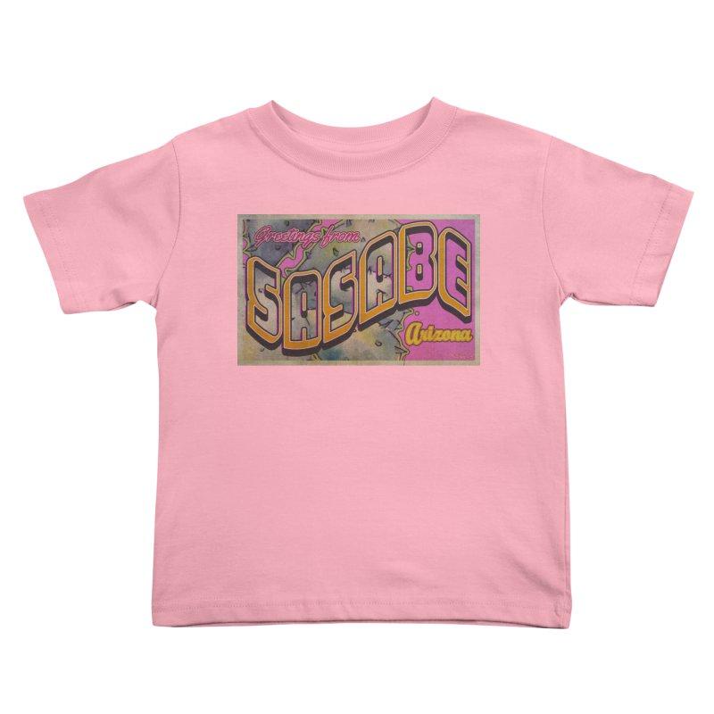 Sasabe, AZ. Kids Toddler T-Shirt by Nuttshaw Studios