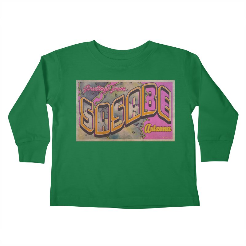 Sasabe, AZ. Kids Toddler Longsleeve T-Shirt by Nuttshaw Studios