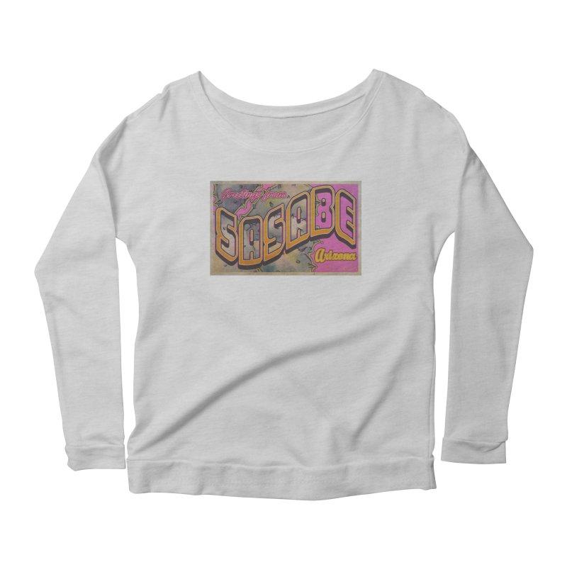 Sasabe, AZ. Women's Scoop Neck Longsleeve T-Shirt by Nuttshaw Studios
