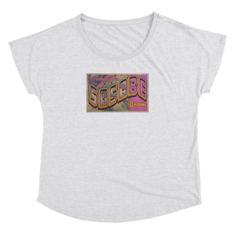 Sasabe, AZ. Women's Dolman Scoop Neck by Nuttshaw Studios