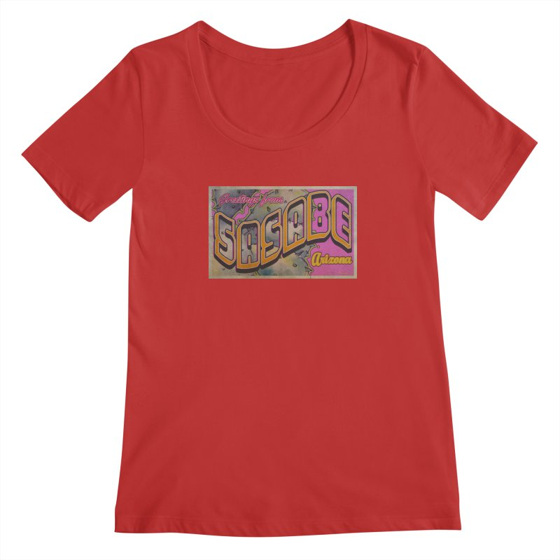 Sasabe, AZ. Women's Regular Scoop Neck by Nuttshaw Studios