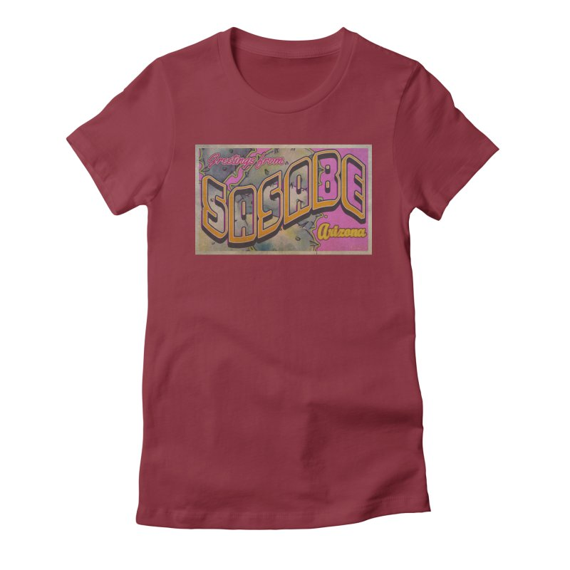 Sasabe, AZ. Women's Fitted T-Shirt by Nuttshaw Studios