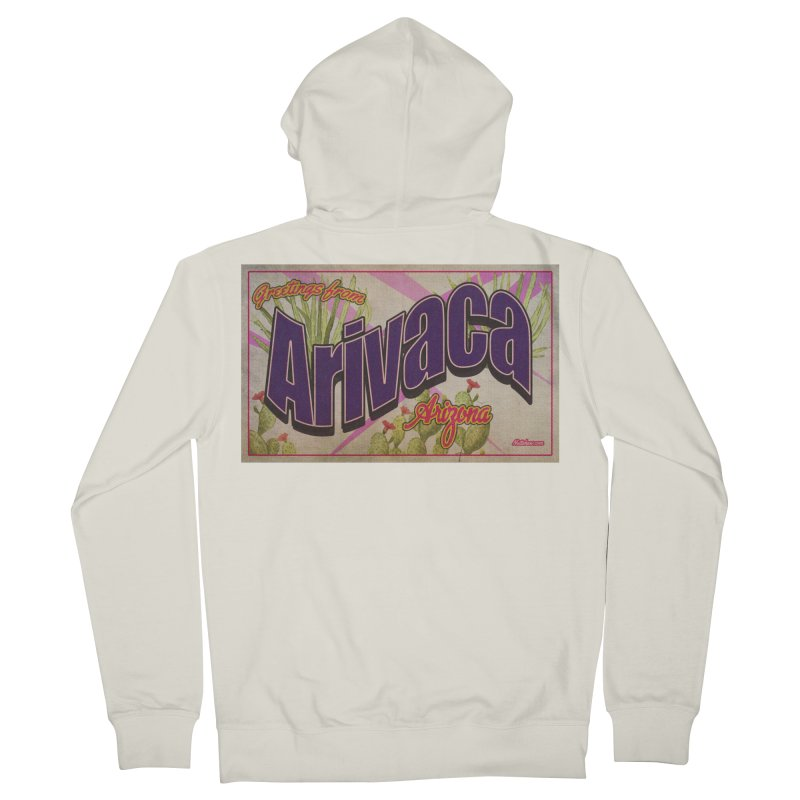 Arivaca, AZ. Men's French Terry Zip-Up Hoody by Nuttshaw Studios