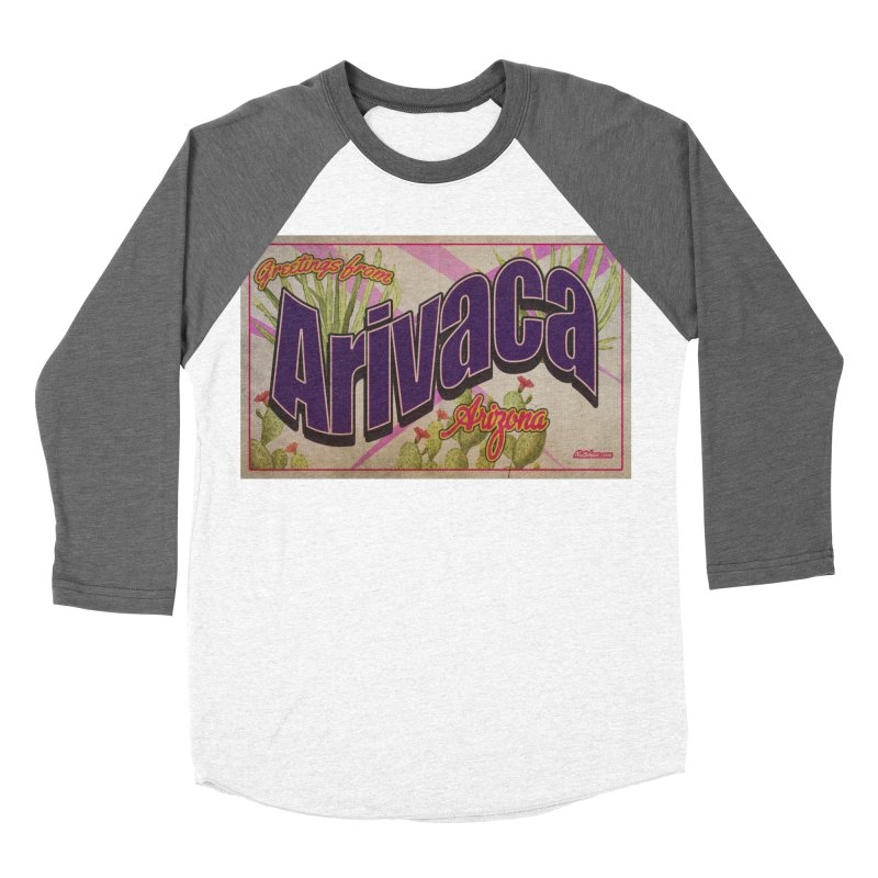 Arivaca, AZ. Men's Baseball Triblend Longsleeve T-Shirt by Nuttshaw Studios