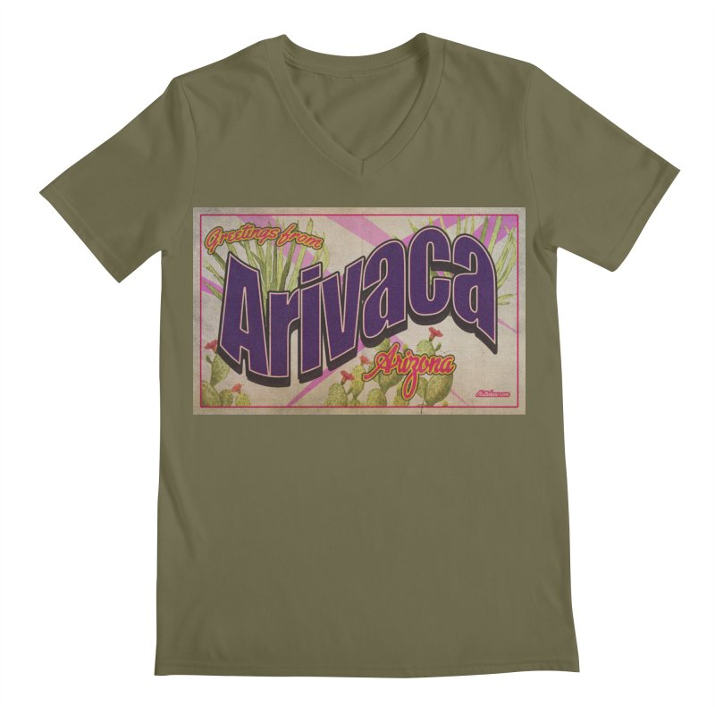 Arivaca, AZ. Men's Regular V-Neck by Nuttshaw Studios