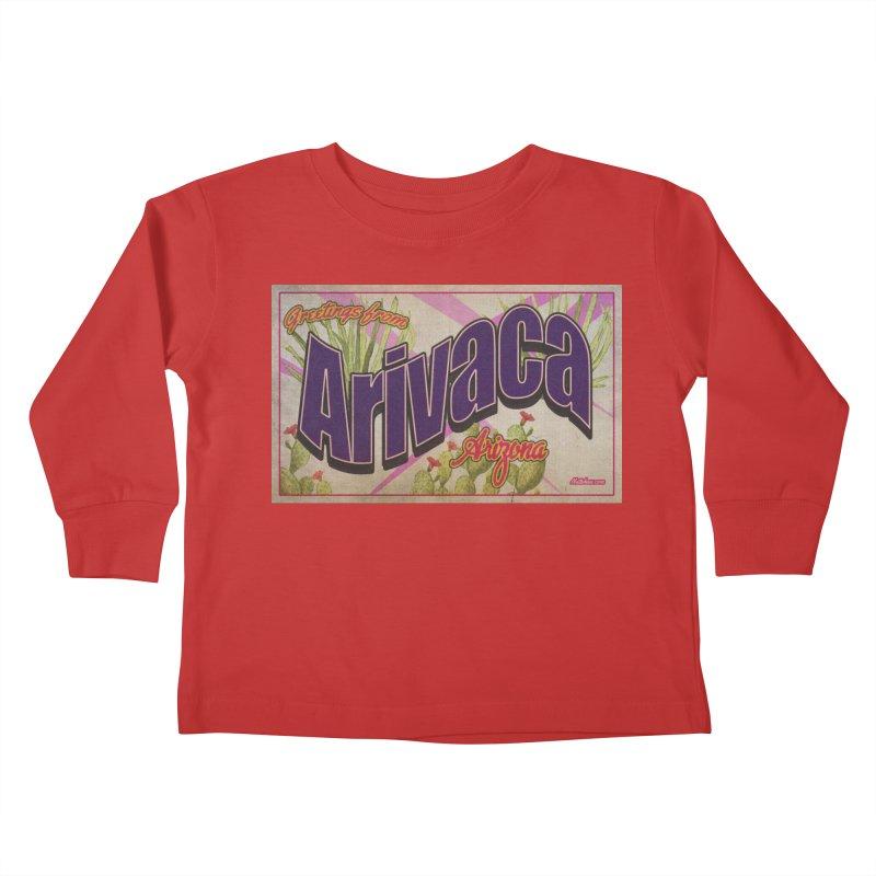 Arivaca, AZ. Kids Toddler Longsleeve T-Shirt by Nuttshaw Studios