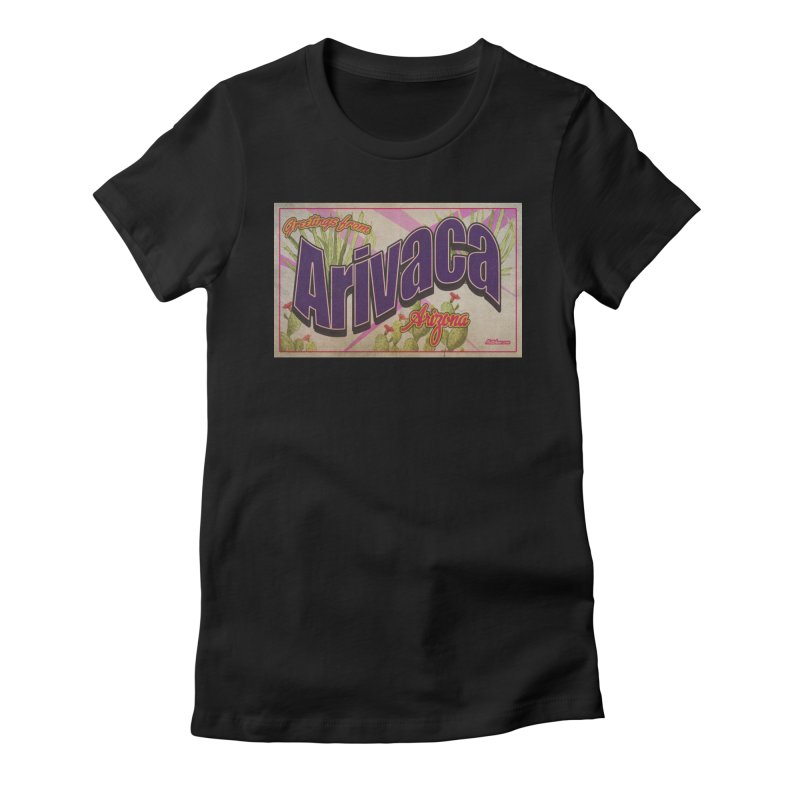 Arivaca, AZ. Women's Fitted T-Shirt by Nuttshaw Studios