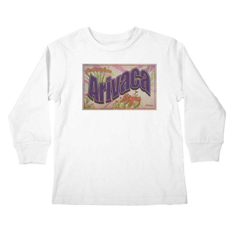 Arivaca, AZ. Kids Longsleeve T-Shirt by Nuttshaw Studios