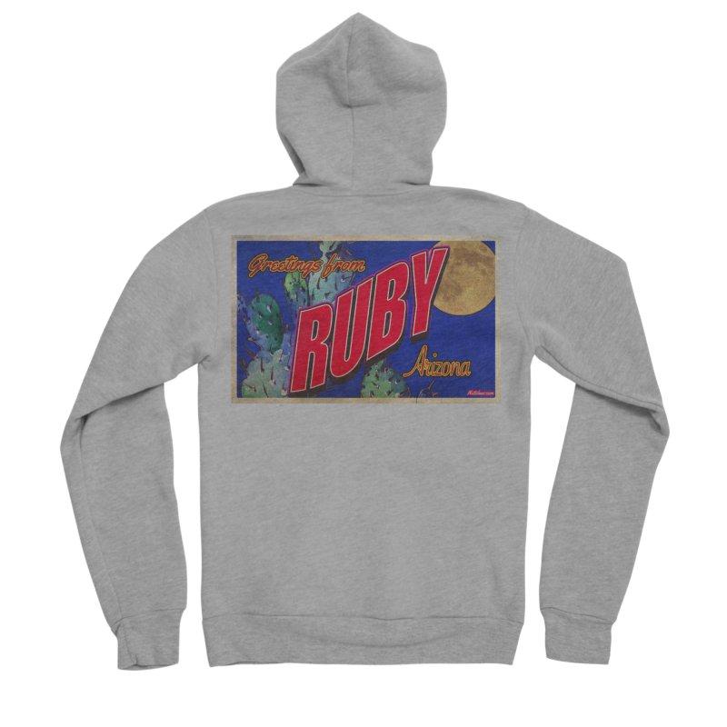 Ruby, AZ Men's Sponge Fleece Zip-Up Hoody by Nuttshaw Studios
