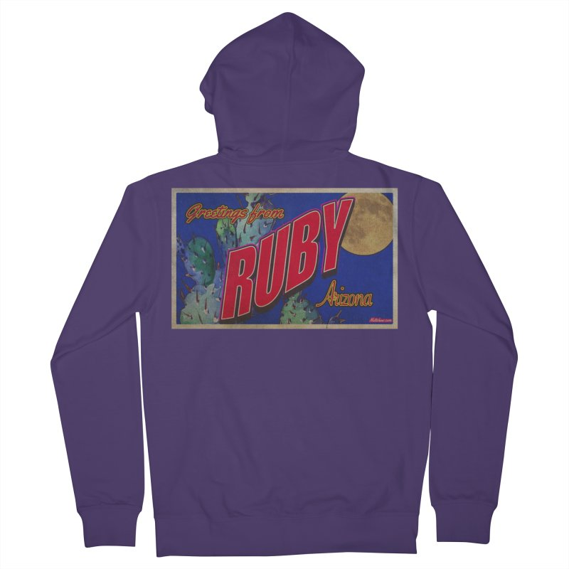 Ruby, AZ Women's French Terry Zip-Up Hoody by Nuttshaw Studios