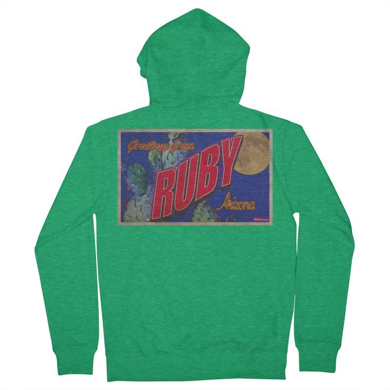 Ruby, AZ Men's Zip-Up Hoody by Nuttshaw Studios
