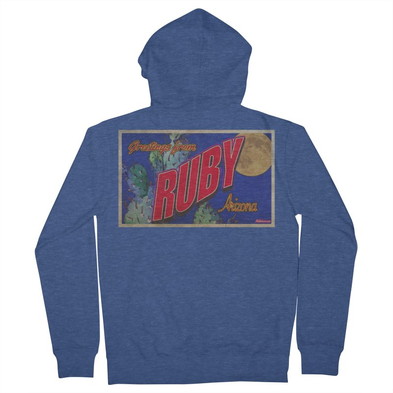 Ruby, AZ Men's French Terry Zip-Up Hoody by Nuttshaw Studios
