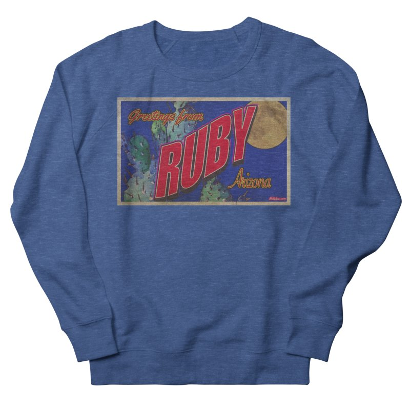 Ruby, AZ Men's French Terry Sweatshirt by Nuttshaw Studios