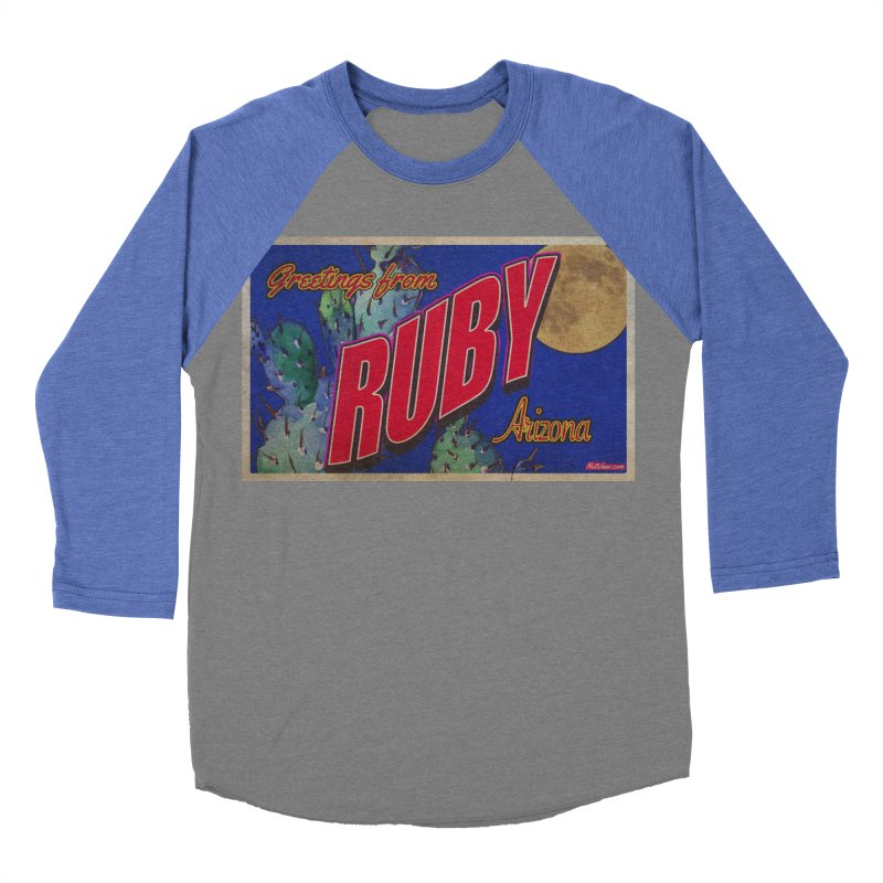 Ruby, AZ Men's Baseball Triblend Longsleeve T-Shirt by Nuttshaw Studios