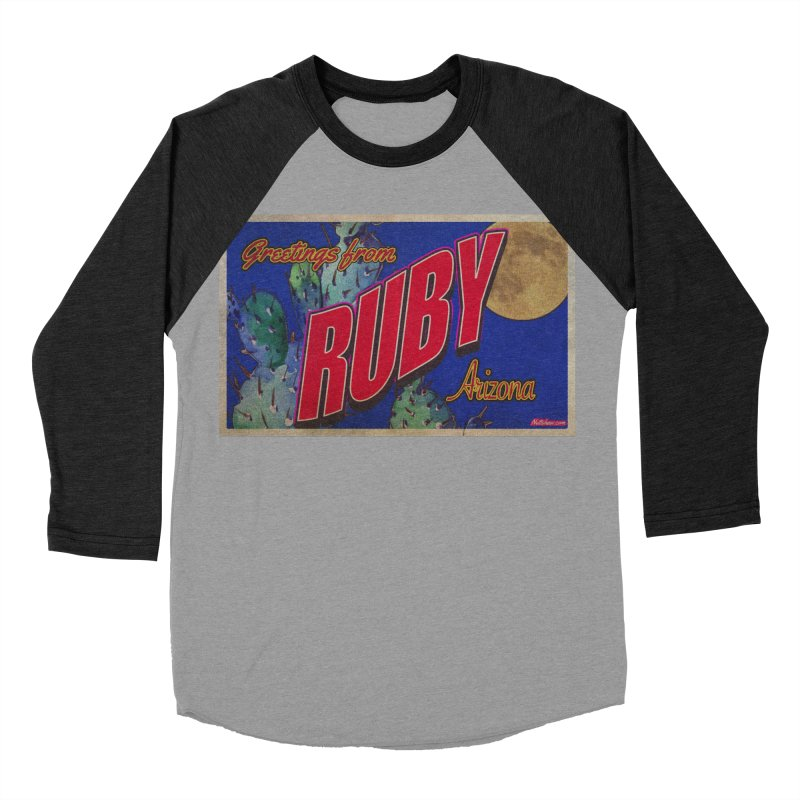 Ruby, AZ Men's Baseball Triblend Longsleeve T-Shirt by Nuttshaw Studios