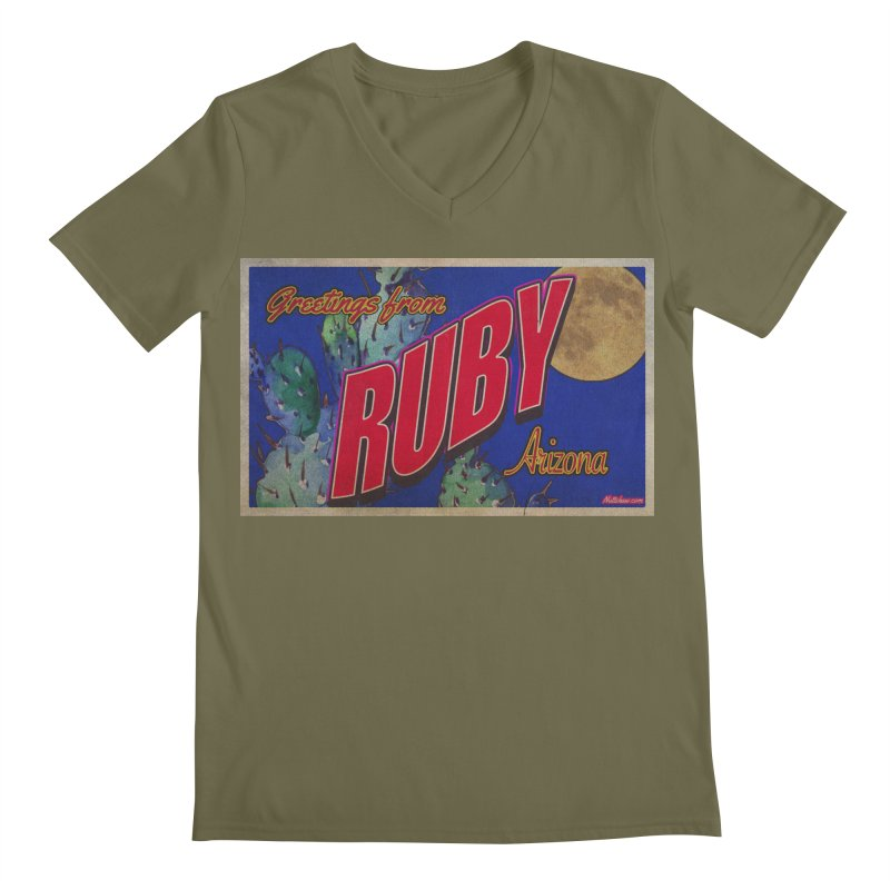 Ruby, AZ Men's Regular V-Neck by Nuttshaw Studios