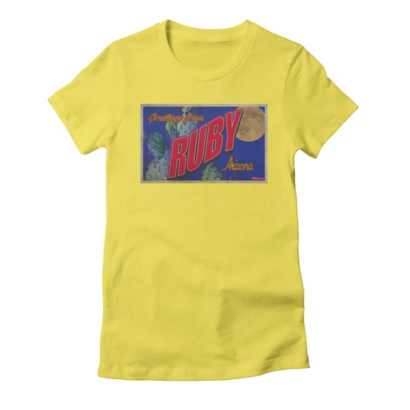 Ruby, AZ Women's Fitted T-Shirt by Nuttshaw Studios