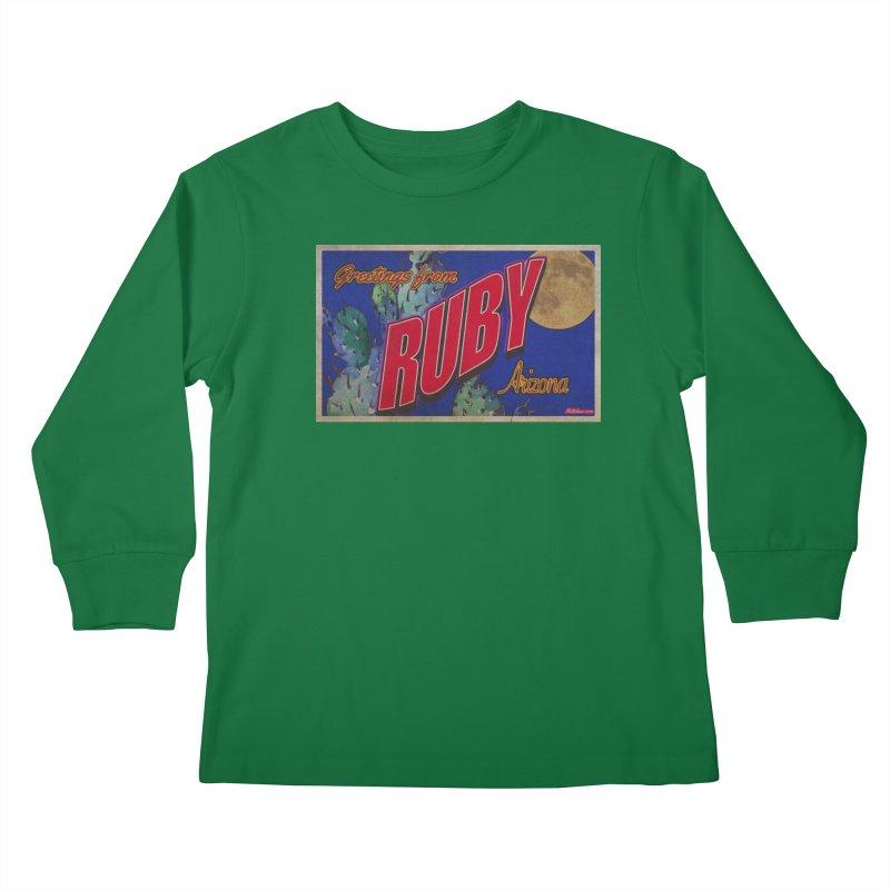 Ruby, AZ Kids Longsleeve T-Shirt by Nuttshaw Studios