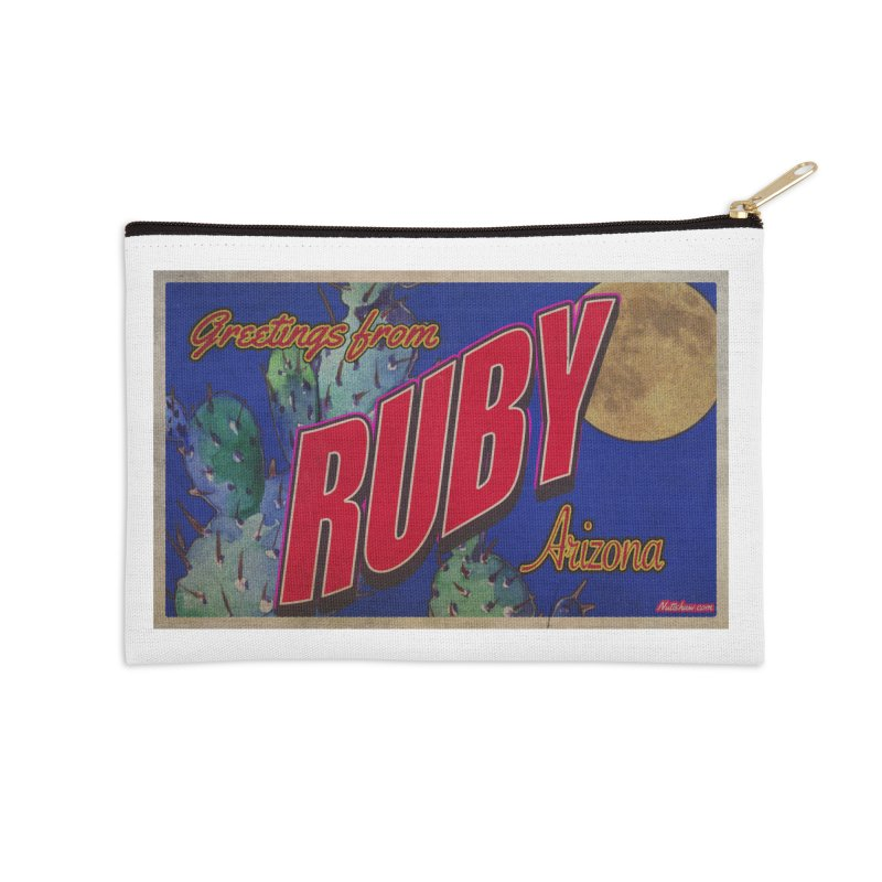 Ruby, AZ Accessories Zip Pouch by Nuttshaw Studios