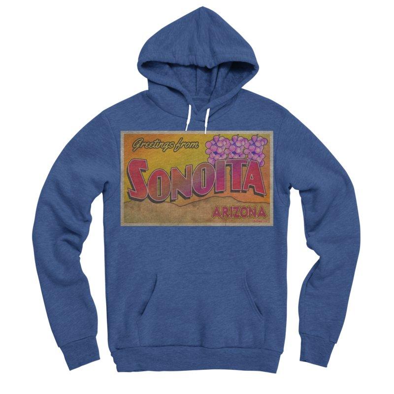 Sonoita, AZ. Men's Sponge Fleece Pullover Hoody by Nuttshaw Studios