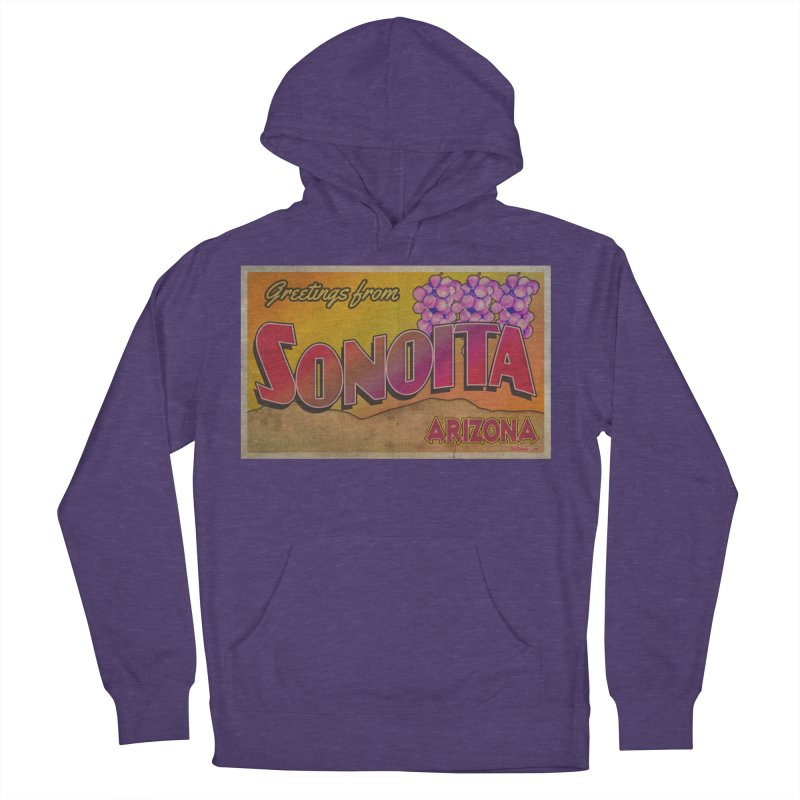 Sonoita, AZ. Men's French Terry Pullover Hoody by Nuttshaw Studios