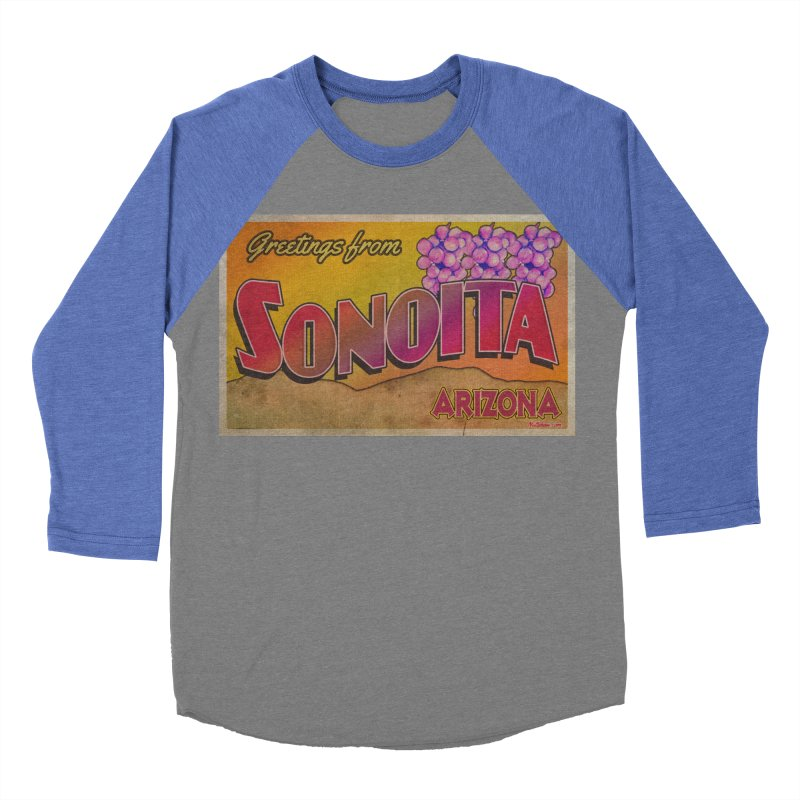 Sonoita, AZ. Men's Baseball Triblend Longsleeve T-Shirt by Nuttshaw Studios