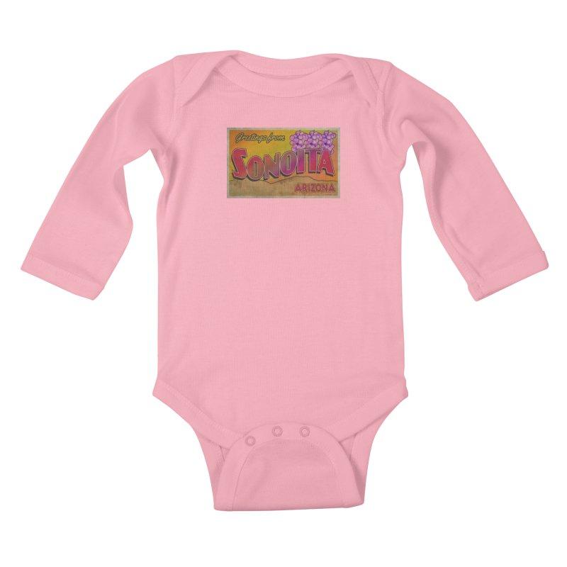 Sonoita, AZ. Kids Baby Longsleeve Bodysuit by Nuttshaw Studios