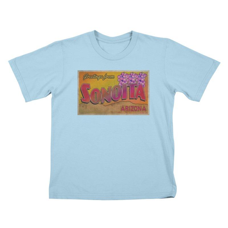 Sonoita, AZ. Kids T-Shirt by Nuttshaw Studios