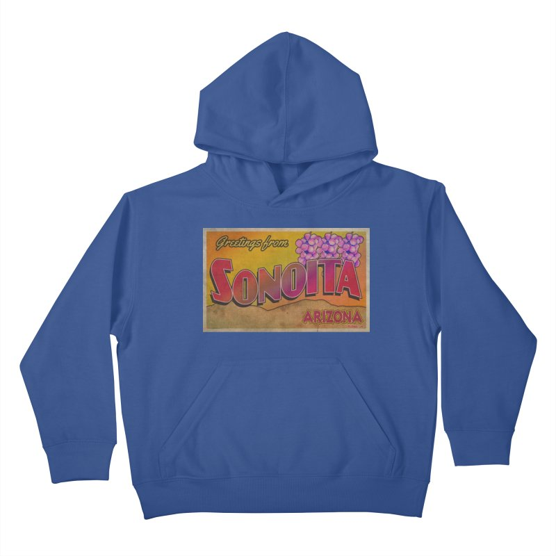 Sonoita, AZ. Kids Pullover Hoody by Nuttshaw Studios