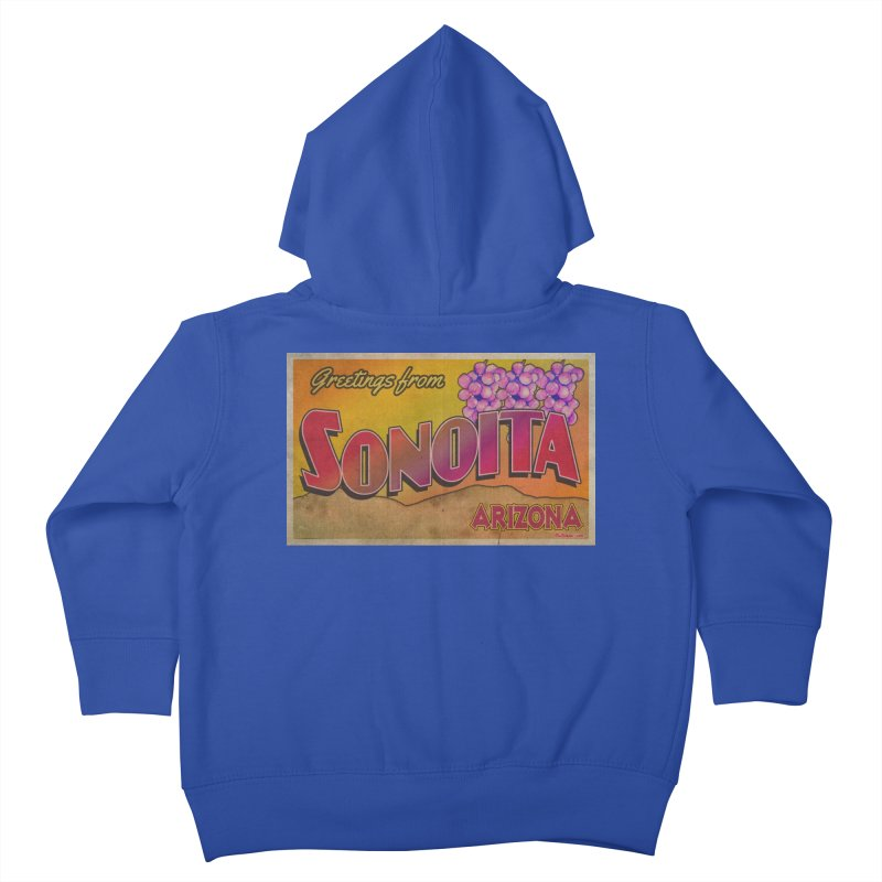 Sonoita, AZ. Kids Toddler Zip-Up Hoody by Nuttshaw Studios